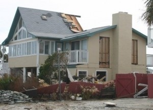 Our destroyed home on Pensacola Beach after Hurricane Ivan came roaring through.