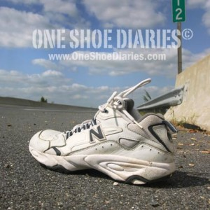 Shoe #258, found on route 13 near Salisbury, MD