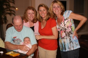 Pops, Nora, Aimee, Sharon and Rachie at the condo