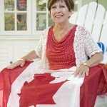 I took this photo of Joan O'Maley with the Canadian Flag while doing a cover shoot for Snowbirds Magazine, March Edition.