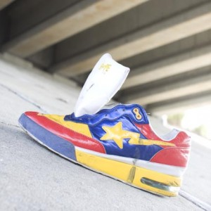 Lost Sole #346 is dedicated to Phil Harris, found in Port Charlotte, FL the day he passed. He had a colorful personality, which makes this shoe somewhat fitting, although he was not flashy, just honest and real.