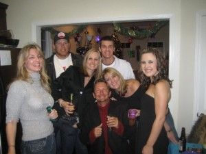 New Year's 2009 with the crew. Bob is the one in the center.