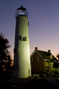 The St. George lighthouse was relocated from the West End of the Island where it had collapsed from hurricanes in 2005. The locals gathered all of the bricks, and using the original plans rebuilt the lighthouse where it now stands in the center of the island activity.