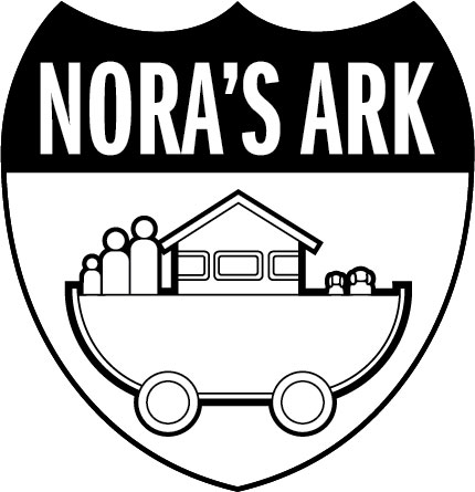 Here is the unveiling of the Nora's Ark logo, currently it is just in black and white and the only place we have used it is engraving it into the wood trim on the dashboard