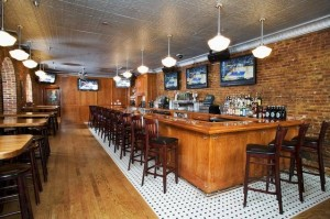 I just love the bar with exposed brick. (Not my photo)