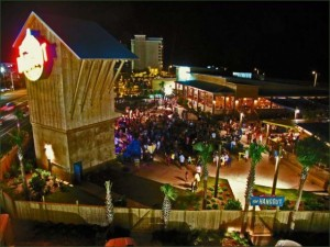 The Hangout at night, where dancing on the tables is a ritual.